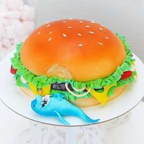 Торт гамбургер и акула