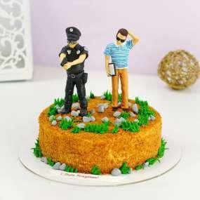 """Торт """"Место преступления"""""""