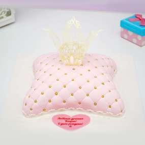 "Торт ""Подушка с короной"""
