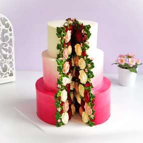 "Торт ""Цветы в разрезе"""