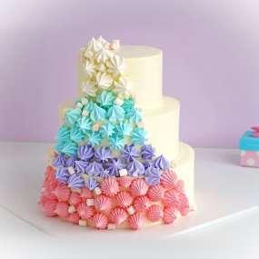 """Торт """"Свадебный с меренгой"""""""