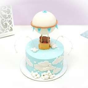 """Торт """"Мишка на воздушном шаре"""""""