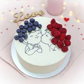 """Торт """"Мальчик и девочка"""""""