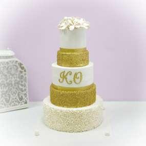 """Торт """"Свадебный с инициалами"""""""