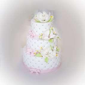 """Торт """"Мастичный с цветами"""""""