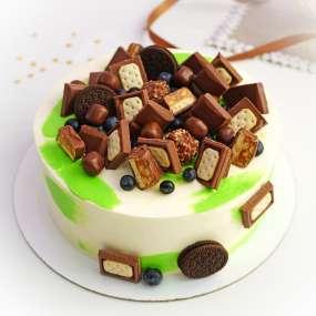 """Торт """"Голубика со сладостями"""""""