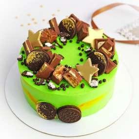 """Торт """"Сладости и пряничные звезды"""""""