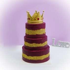 """Торт """"Ярусный с короной"""""""