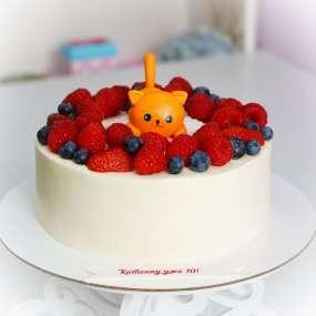 """Торт """"Кот и ягоды"""""""