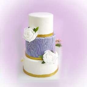"""Торт """"Глазурь и цветы"""""""