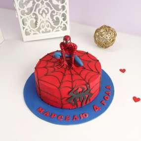 """Торт """"Человек-паук на паутине"""" 1,5 кг"""
