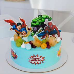 """Торт """"Супергерои из комиксов"""" 1,5 кг"""