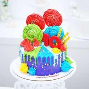 """Торт """"Разноцветное счастье"""" 1,5 кг"""