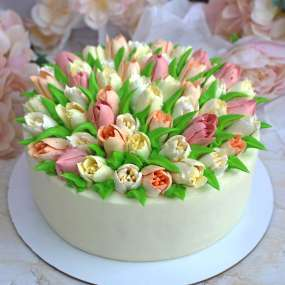 "Торт ""Нежные тюльпаны"""