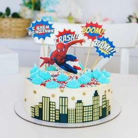 "Торт ""Человек-паук комикс"""