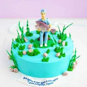 """Торт """"Ловись, рыбка, большая и маленькая"""""""