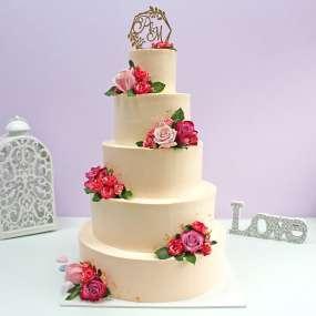 """Торт """"Цветущие розы"""""""