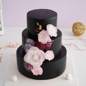 """Торт """"Уголь и розы"""""""