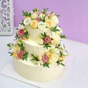 """Торт """"Живые цветы"""""""