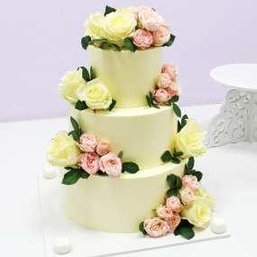 """Торт """"Весенние розы"""""""