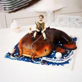 "Торт ""Рыбак и сом"""