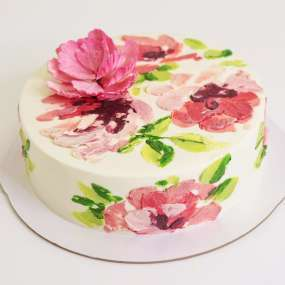 """Торт """"Цветочный узор"""""""