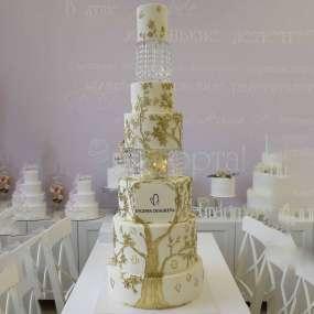 Белый торт дерево жизни