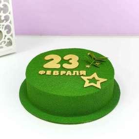 Зеленый торт 23 февраля