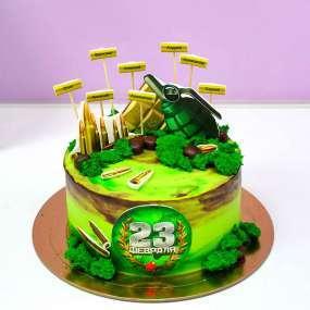 Зеленый торт боеприпасы