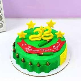 Зеленый торт патроны