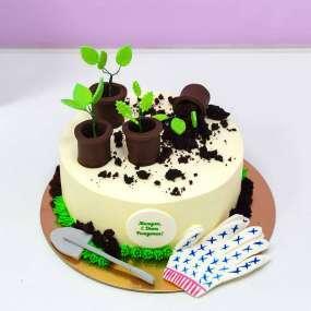 Белый торт любимой мамочке