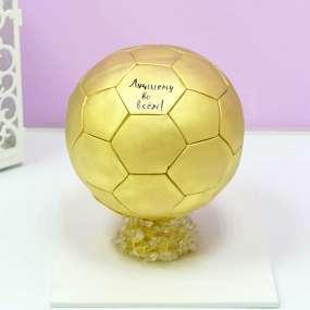 Желтый торт золотой мяч