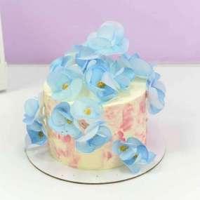 Торт с голубыми орхидеями