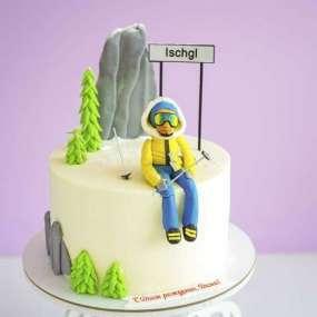 Торт с Горнолыжником