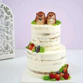 Открытый свадебный торт