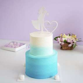 Свадебный голубой торт