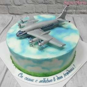 """Торт """"Серый самолет"""""""