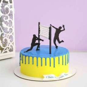 Торт с волейболистами