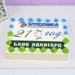 Корпоративный торт с фотопечатью