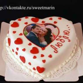 Торт «Сердце с фото»