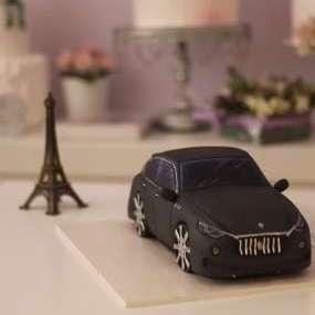 """Торт """"Черная машина"""" №2"""
