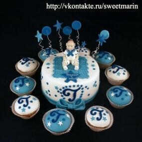 "Торт ""Синий бантик"""