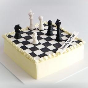 """Торт """"Шахматная доска"""""""