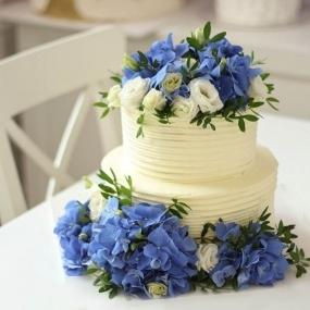 """Торт """"Голубые цветы"""""""