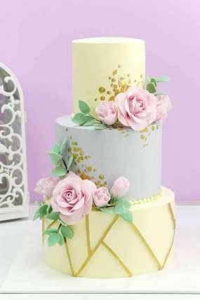 """Торт """"Розо и золото"""""""