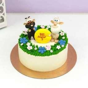 Торт снежный человек и мышь