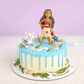 Торт с принцессой Моаной