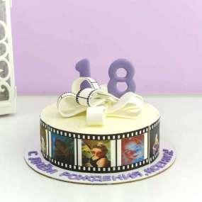 Торт с фотопленкой