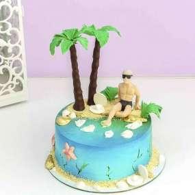 Торт с островом