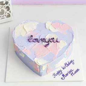 Торт фиолетовое сердце